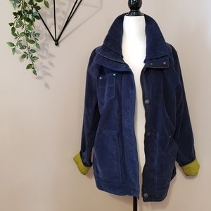 EDDIE BAUER | NAVY COTTON BLEND CORDUROY JACKET